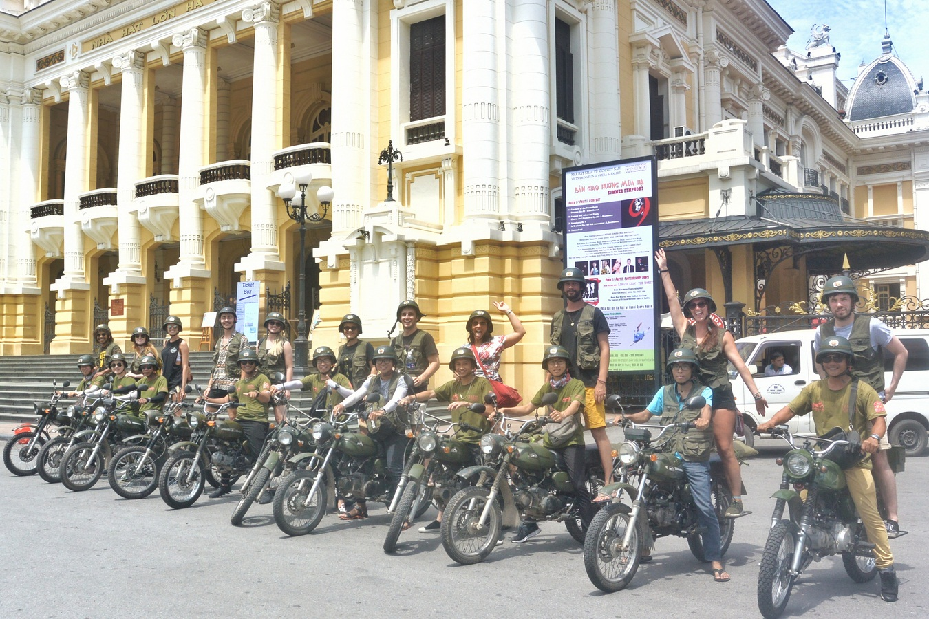 Hanoi Motorbike City Tours : Food , Culture, Sight & Fun on Vintage Minsk Motorcycle